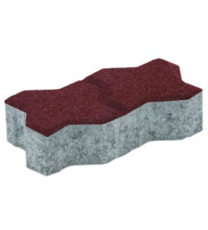 Pavaj Uniloc Rosu 24.3x10.6x4 cm Elpreco