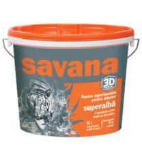 VOPSEA SAVANA SUPERLAVABILĂ ALB 3D INTERIOR 15L